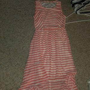 Coral and white striped